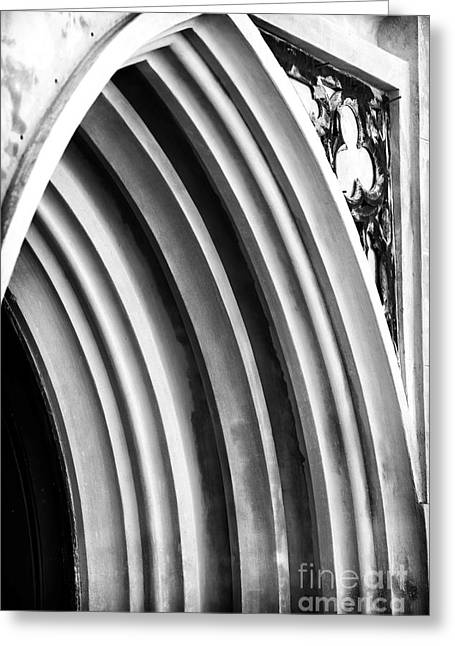 Arches At Huguenot Greeting Card by John Rizzuto
