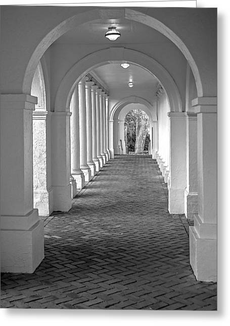 Arches At The Rotunda At University Of Va 2 Greeting Card by Jerry Gammon