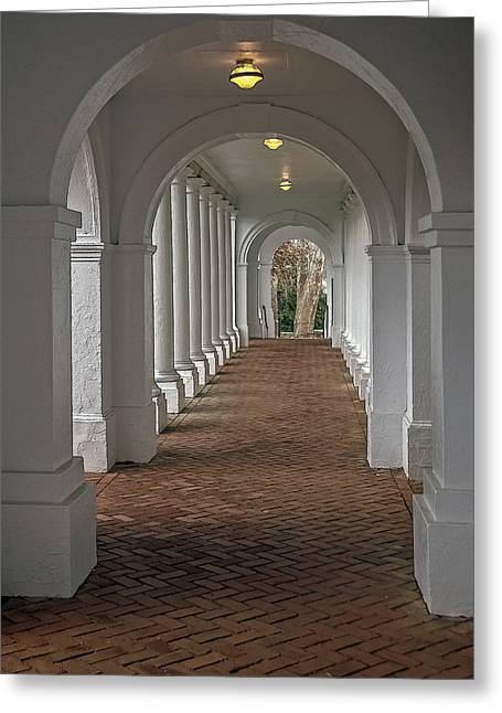 Arches At The Rotunda At University Of Va Greeting Card by Jerry Gammon