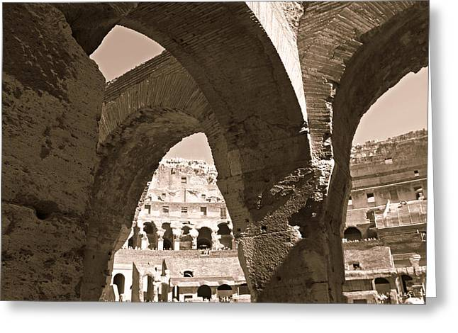 Arches In The Colosseum Greeting Card