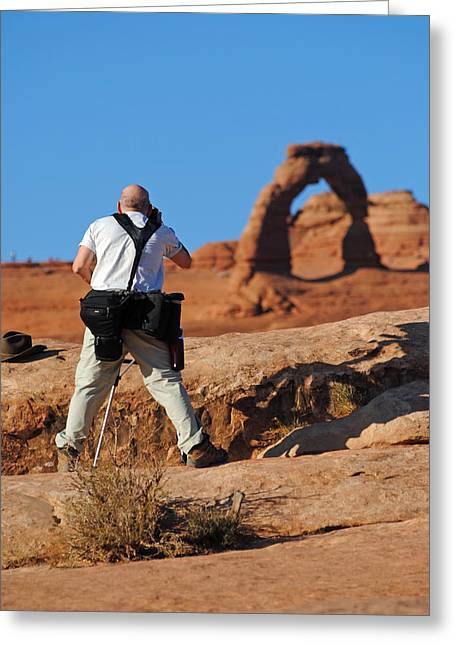Greeting Card featuring the photograph Arches Np 27 by Jeff Brunton