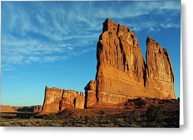 Greeting Card featuring the photograph Arches National Park 47 by Jeff Brunton