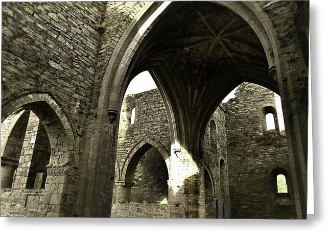 Arches Of Ages - Jerpoint Abbey Greeting Card