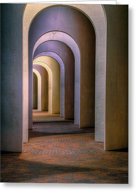 Arches Of The Ferguson Center Greeting Card by Jerry Gammon