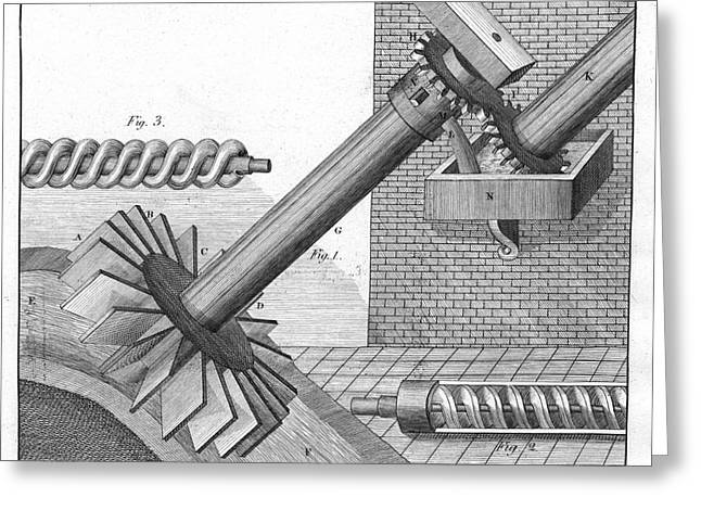 Archimedean Screws Greeting Card by Universal History Archive/uig