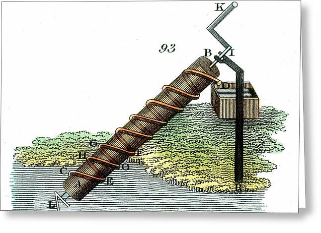 Archimedes' Screw Greeting Card by Universal History Archive/uig