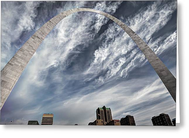 Arching Over St. Louis Greeting Card by Gregory Ballos
