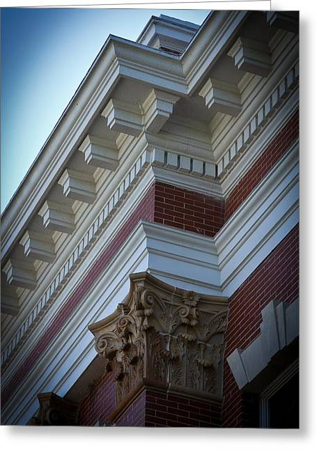 Architechture Morgan County Court House Greeting Card by Reid Callaway