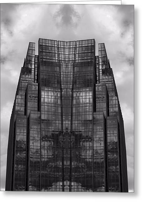 Architect's Dream Black And White Greeting Card by Dan Sproul