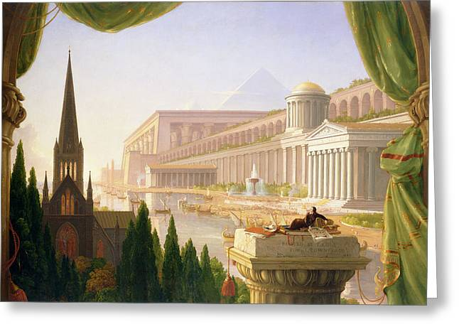 Architects Dream Greeting Card by Thomas Cole