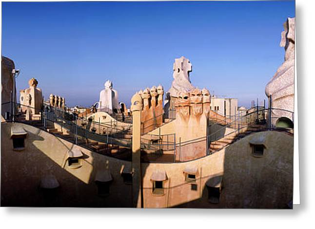 Architectural Details Of Rooftop Greeting Card by Panoramic Images