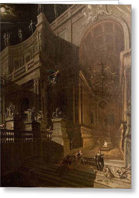 Architectural Fantasy With Figures Greeting Card