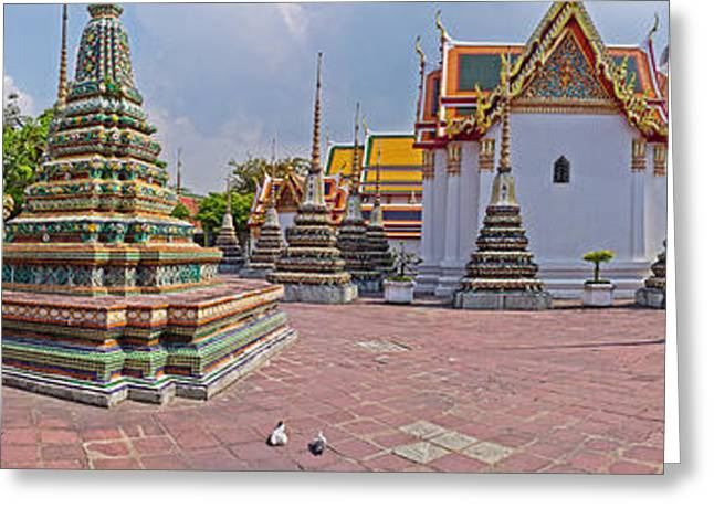 Architectural Feature Of A Temple, Wat Greeting Card
