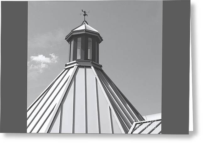 Architectural Gray Greeting Card by Ann Horn