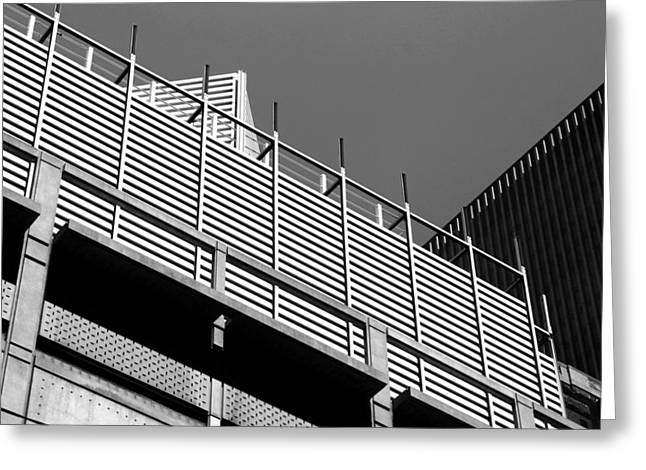 Architectural Lines Black White Greeting Card