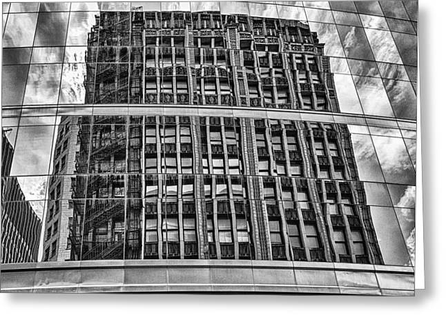 Architectural Reflection 2 Greeting Card by Robert  FERD Frank