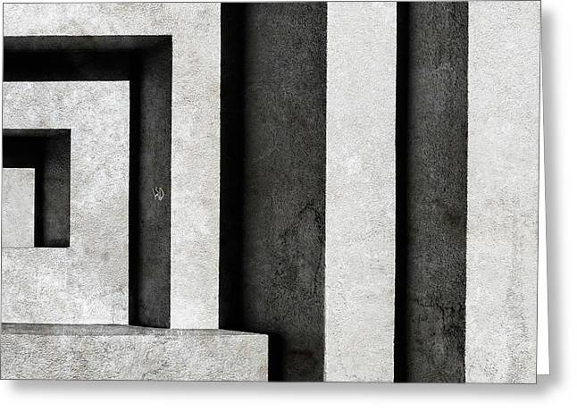 Architectural Signs II Greeting Card by Luc Stalmans