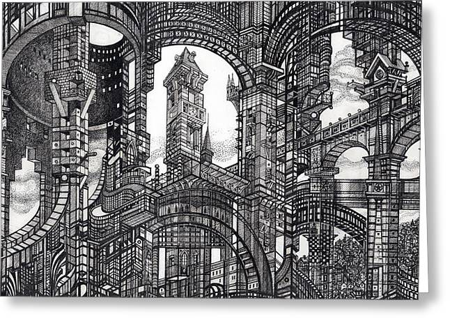 Architectural Utopia 11 Fragment Greeting Card