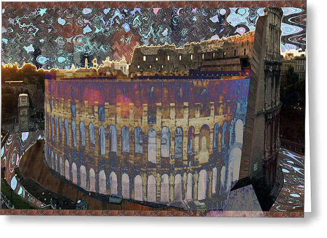 Architecture And Ruined Landmarks Of Europe Digital Painting Finished Touches By Navinjoshi Greeting Card
