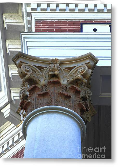 Architecture Column Madison Ga Court House Greeting Card by Reid Callaway