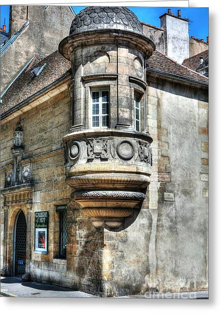 Architecture Of Dijon Greeting Card by Mel Steinhauer