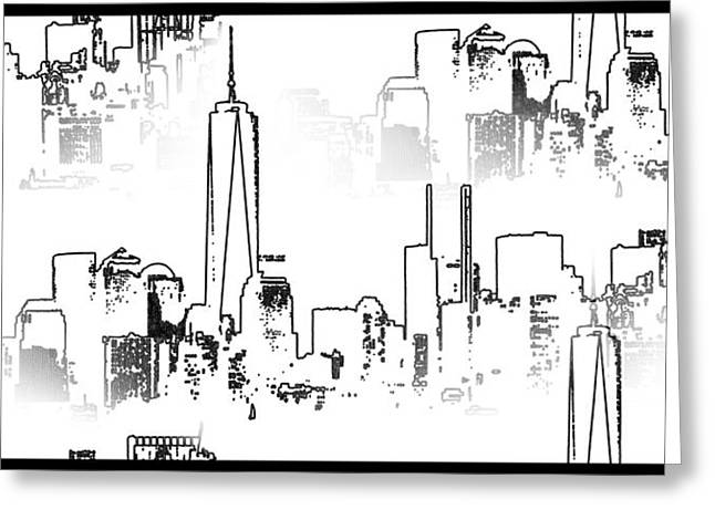 Architecture Of New York City Greeting Card by Dan Sproul