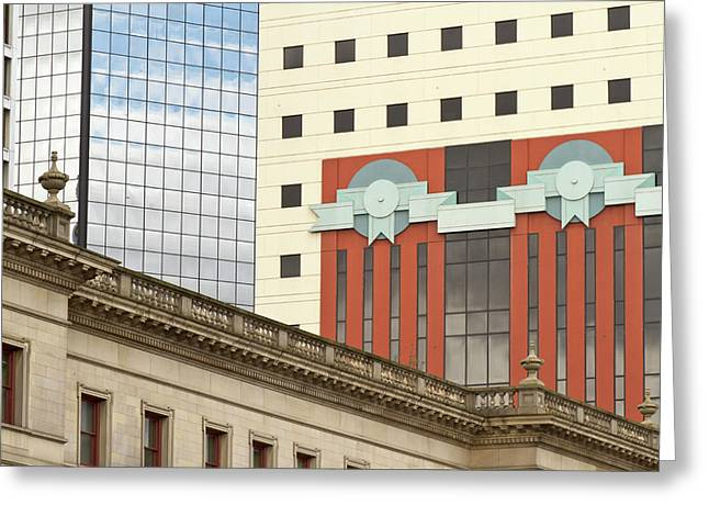 Architecture Of Portland, Oregon Greeting Card by William Sutton