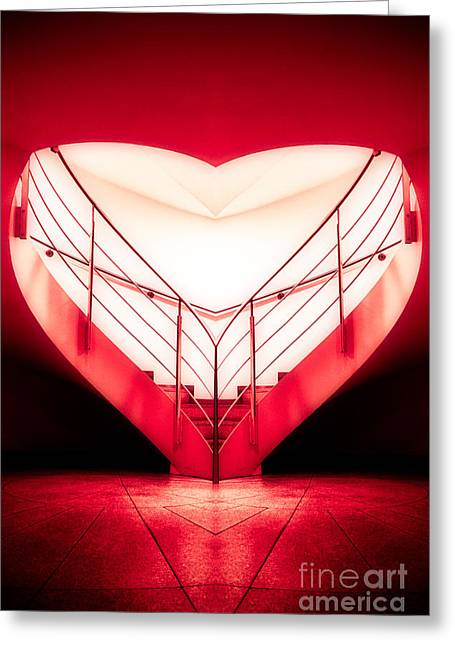 architecture's valentine - redI Greeting Card by Hannes Cmarits