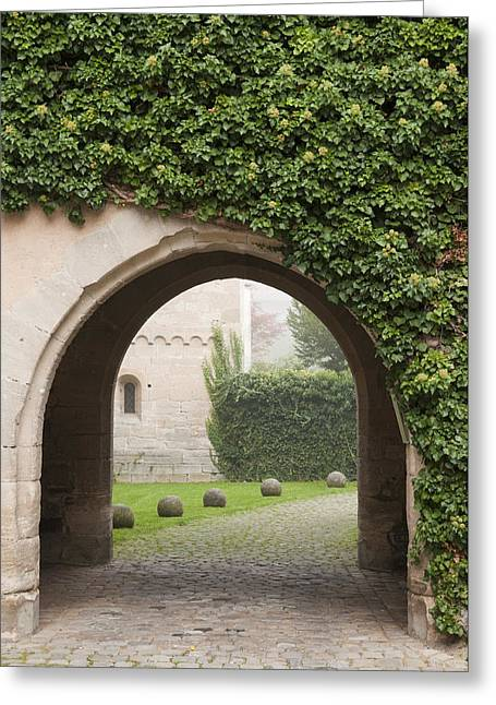 Archway Bebenhausen Abbey Greeting Card by Matthias Hauser