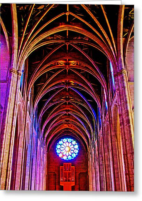 Greeting Card featuring the photograph Archway In Grace Cathedral In San Francisco-california by Ruth Hager