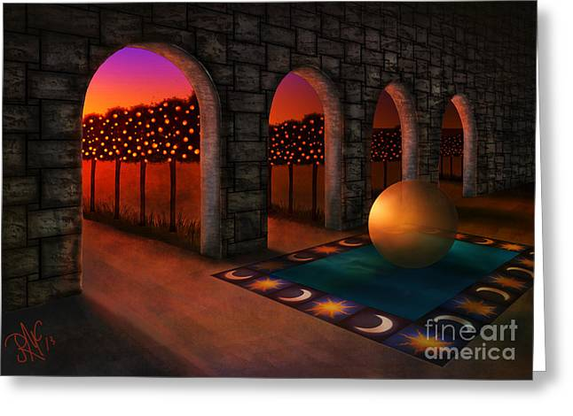 Archway Of Silence Greeting Card