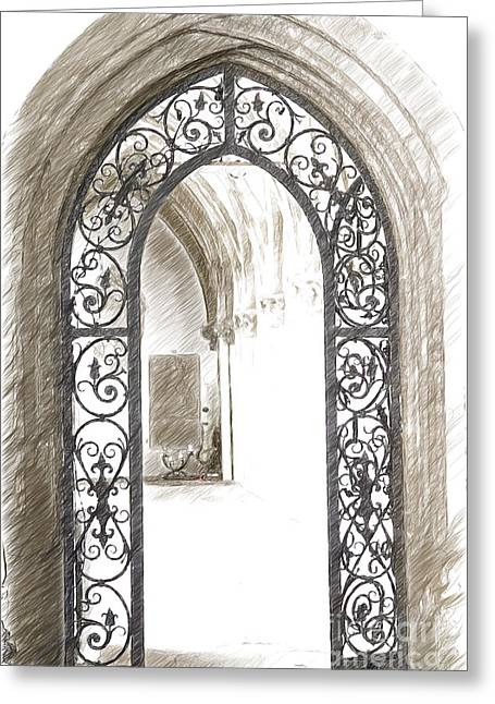 Archway Passage Greeting Card