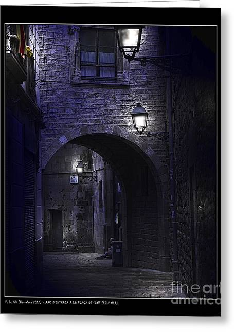 Archway To The Square Of St. Philip Neri's Greeting Card by Pedro L Gili