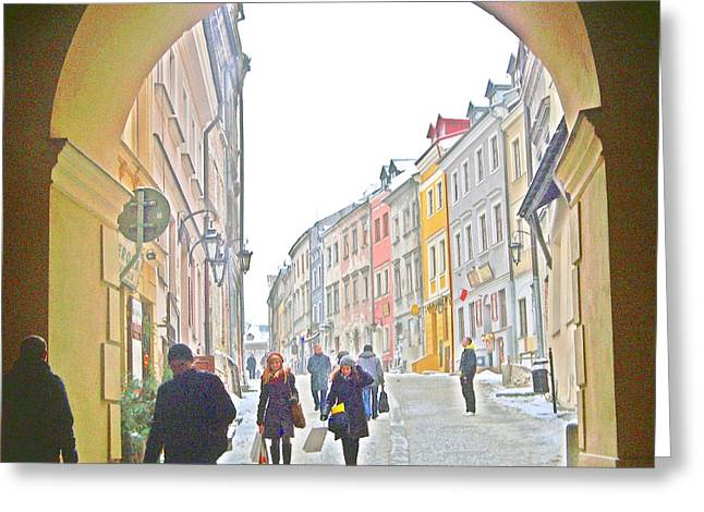 Archway Wall Into Lublin / Old City Greeting Card by Rick Todaro