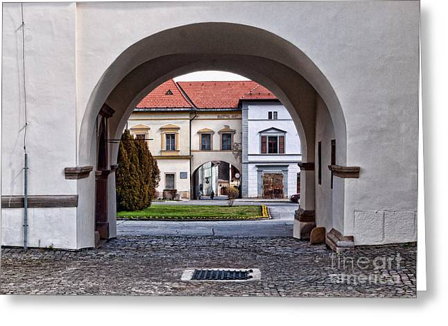 Archways Greeting Card by Les Palenik