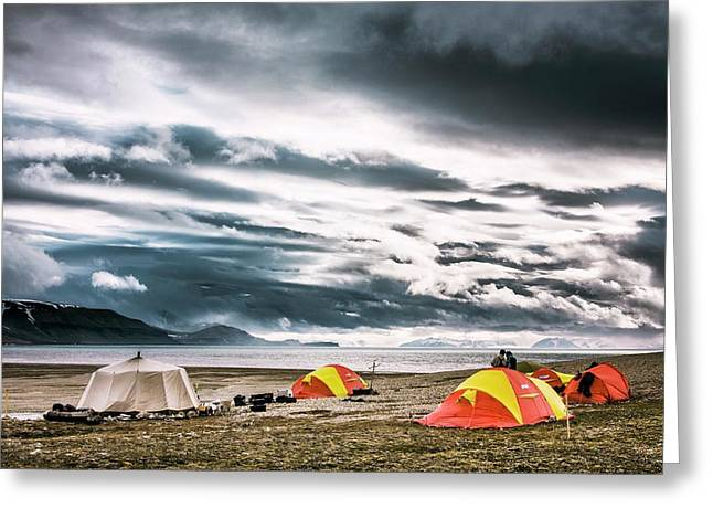 Arctic Camp Greeting Card by Paul Williams