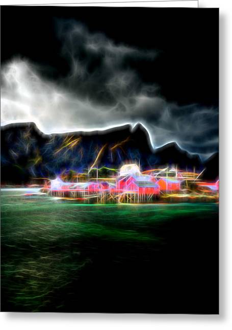 Greeting Card featuring the photograph Arctic Electric by Maciej Markiewicz
