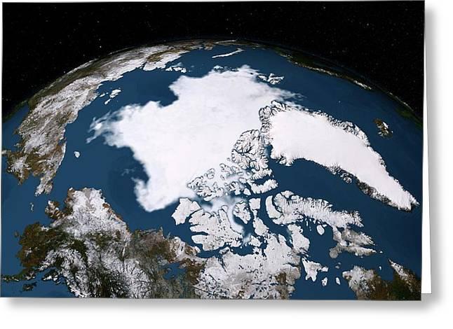 Arctic Ice Minimum Extent Greeting Card
