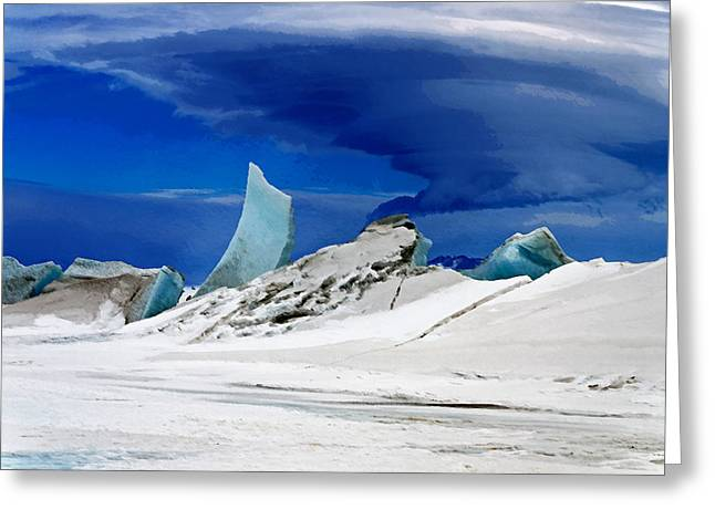 Arctic Pressure Ridge Greeting Card by David Blank