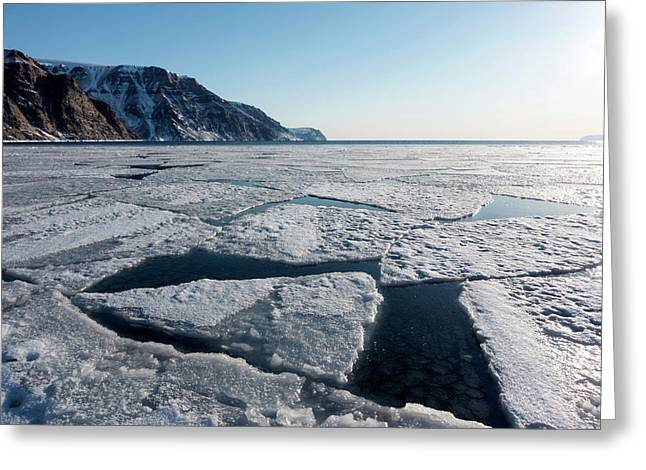 Arctic Sea Ice Breaking Up Greeting Card