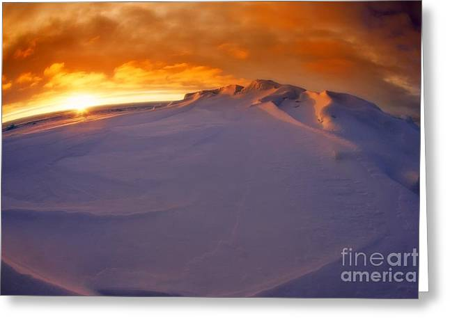 Greeting Card featuring the photograph Arctic Sea Ocean Water Antarctica Winter Snow by Paul Fearn