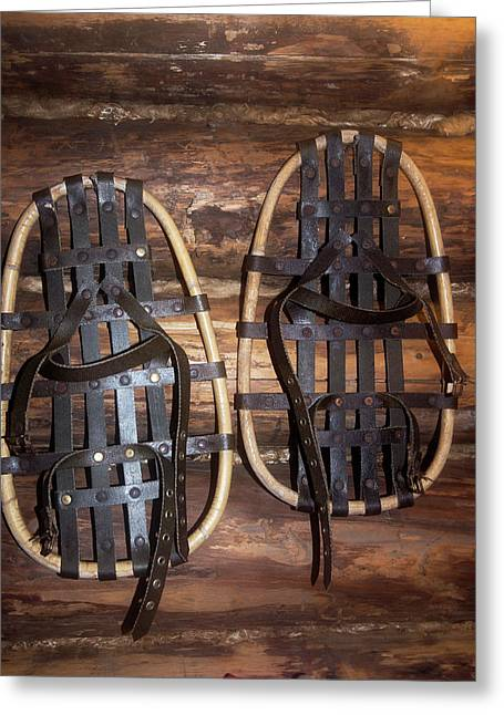 Arctic Snowshoes Greeting Card by Louise Murray