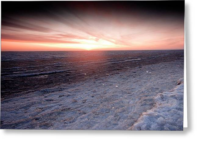 Arctic Sunrise Over The Beaufort Sea Greeting Card by Chris Madeley