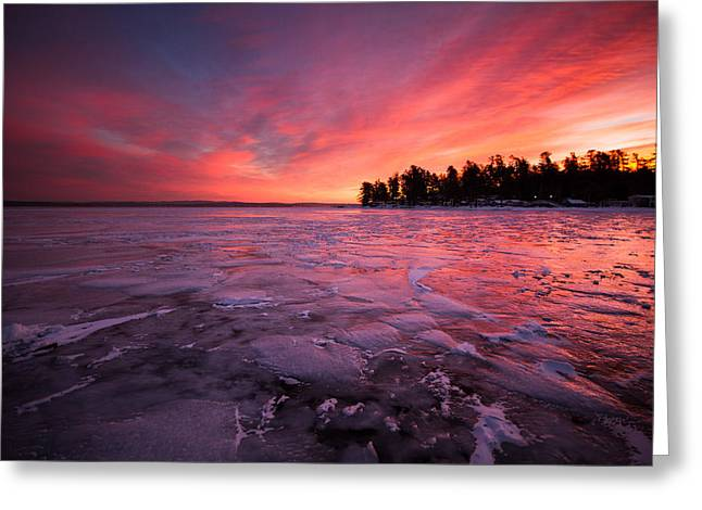 Arctic Sunrise Greeting Card by Robert Clifford