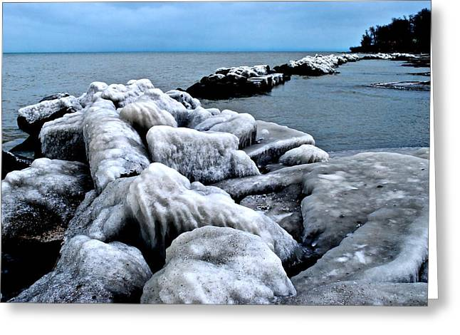 Arctic Waters Greeting Card by Frozen in Time Fine Art Photography