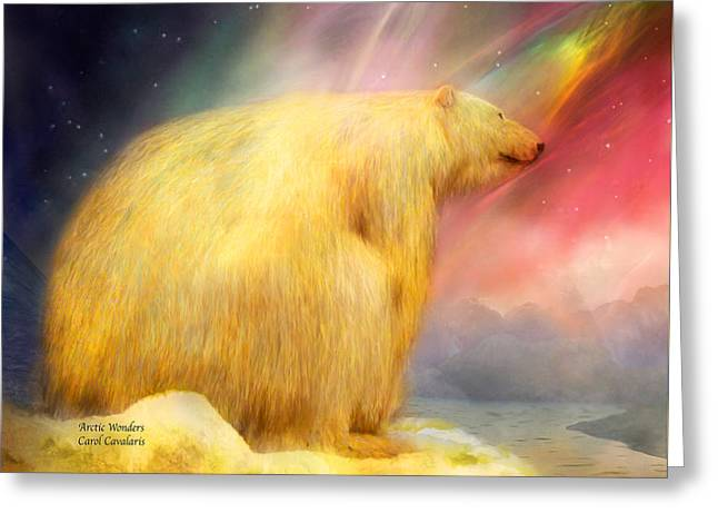 Arctic Wonders Greeting Card by Carol Cavalaris