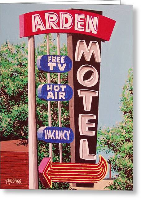Arden Motel Greeting Card by Paul Guyer