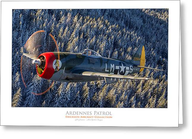 Ardennes Patrol Greeting Card by Lyle Jansma