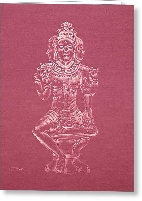 Greeting Card featuring the drawing Ardhanarishvara II by Michele Myers