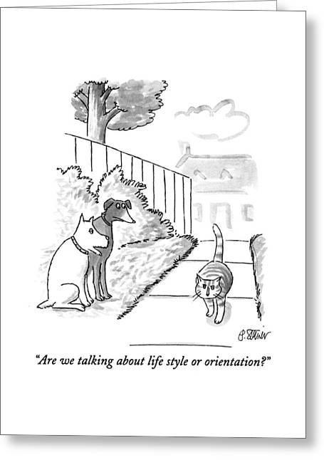 Are We Talking About Life Style Or Orientation? Greeting Card